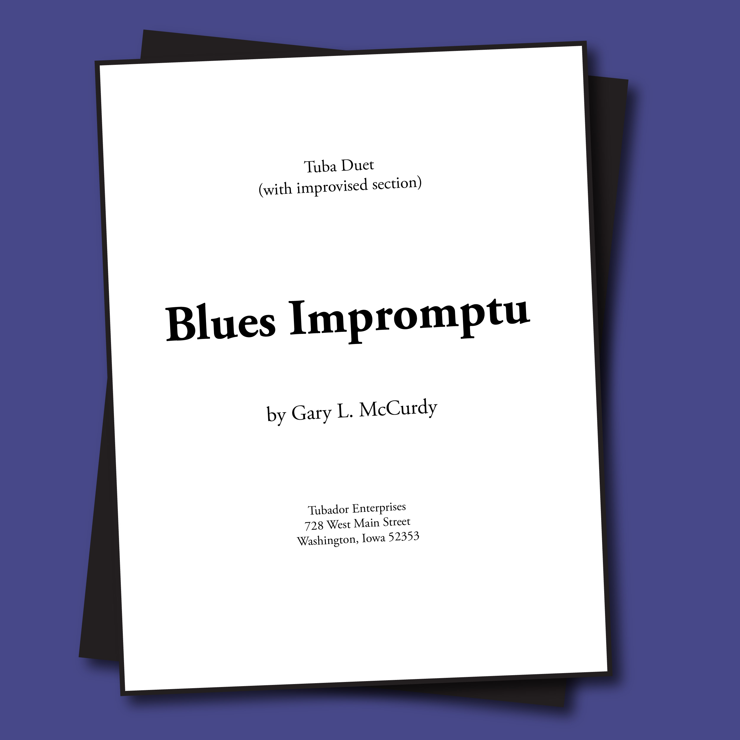 Blues Impromptu Sheet Music - Duet