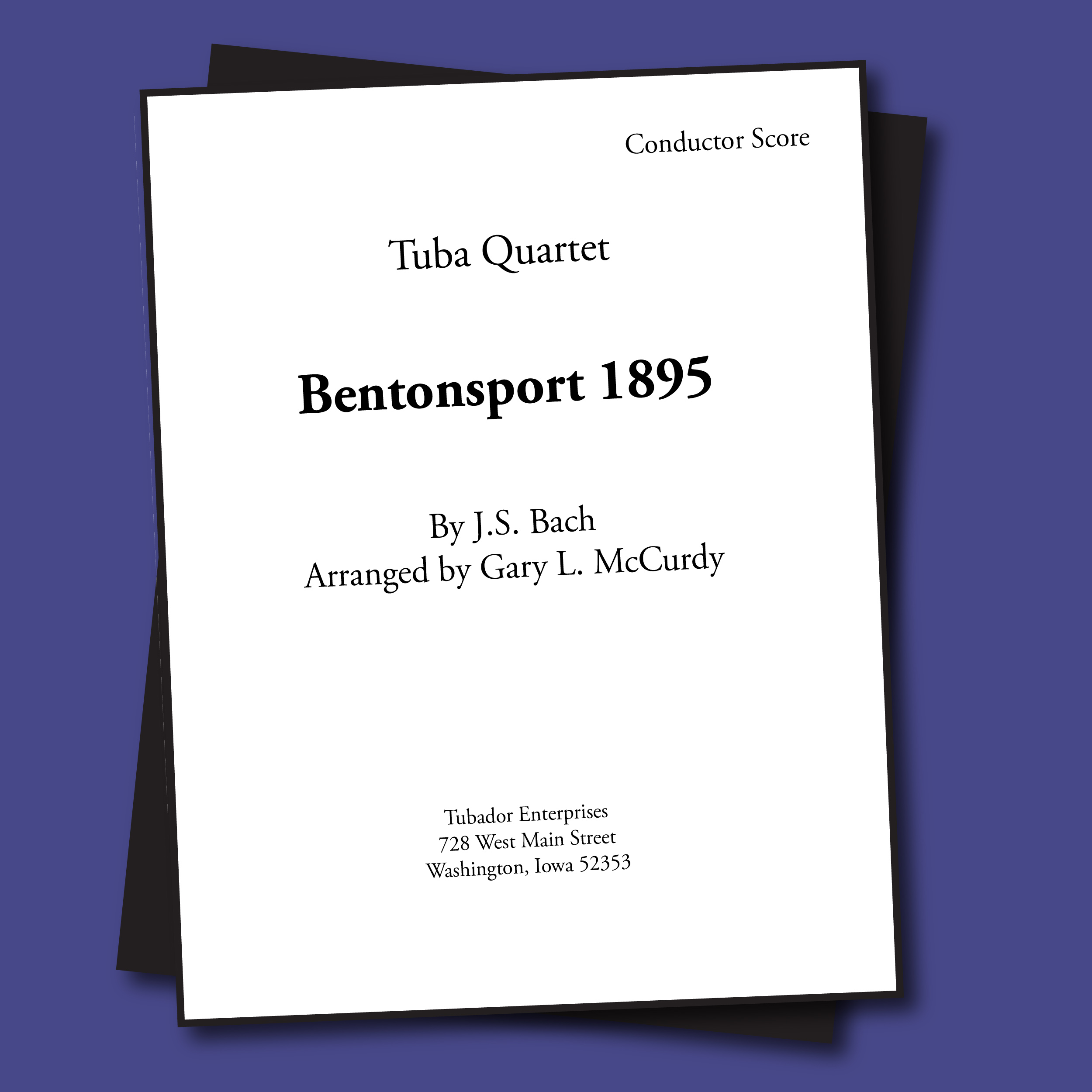 Bentonsport 1895 Sheet Music - Quartet