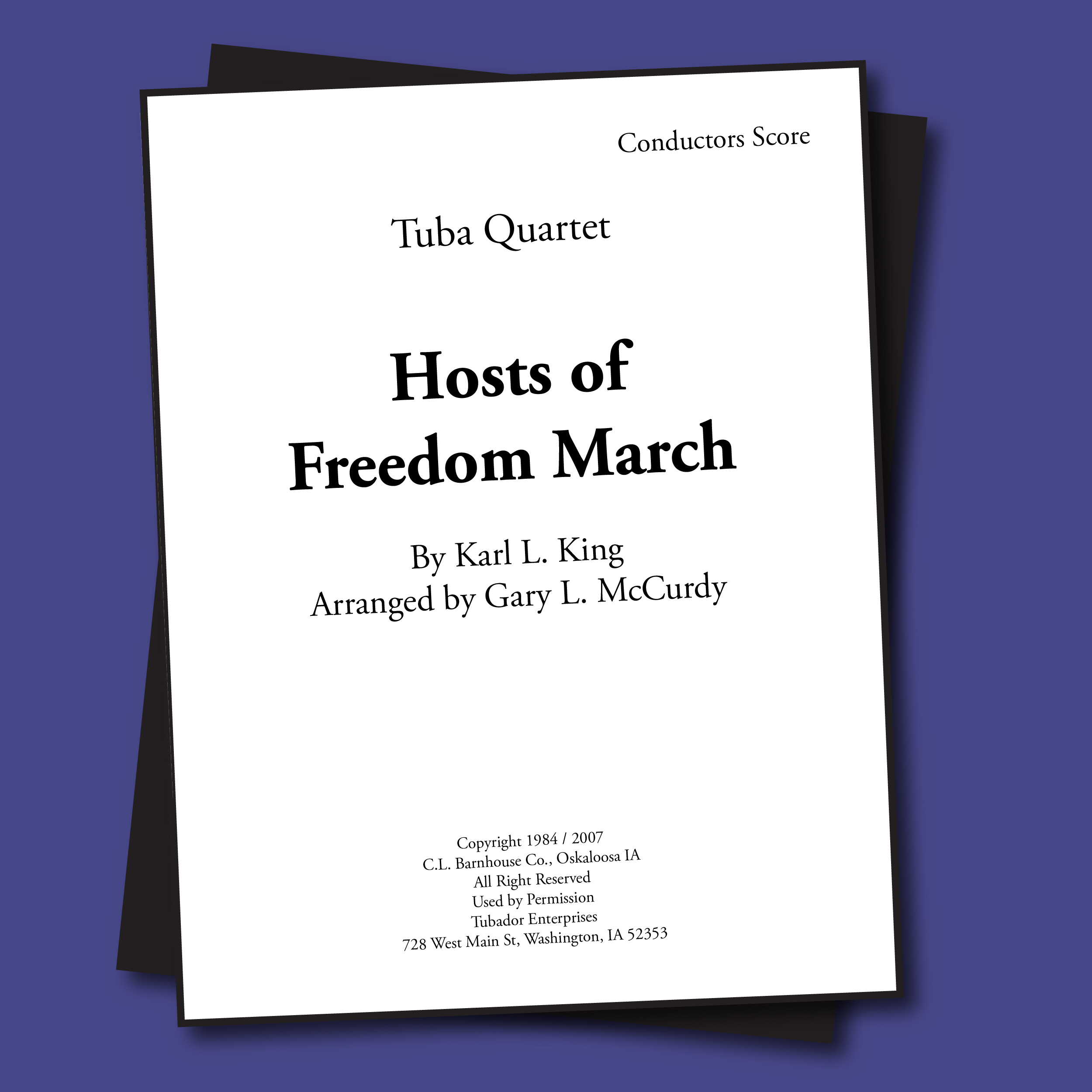 Hosts of Freedom March Sheet Music - Quartet
