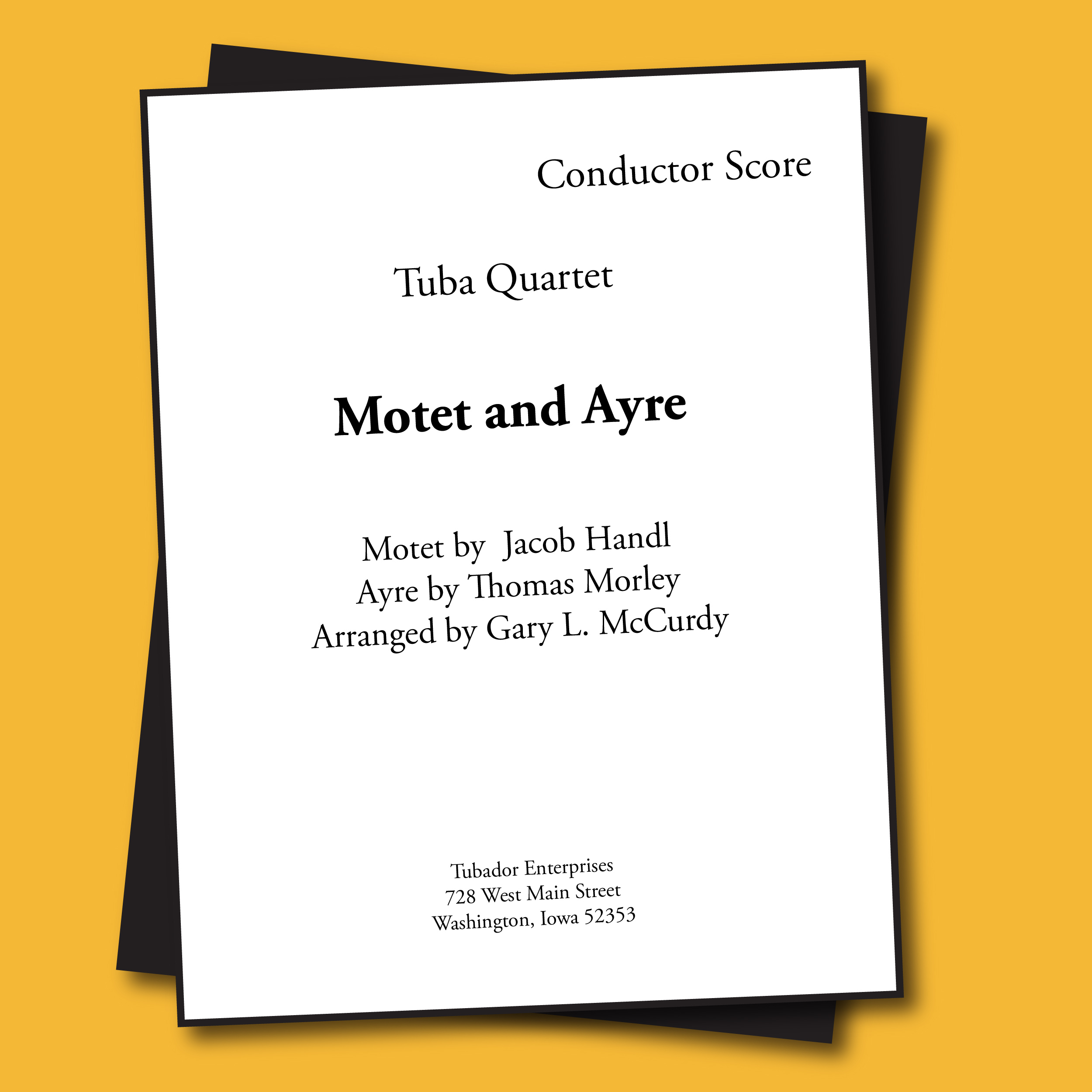 Motet & Ayre Sheet Music - Quartet