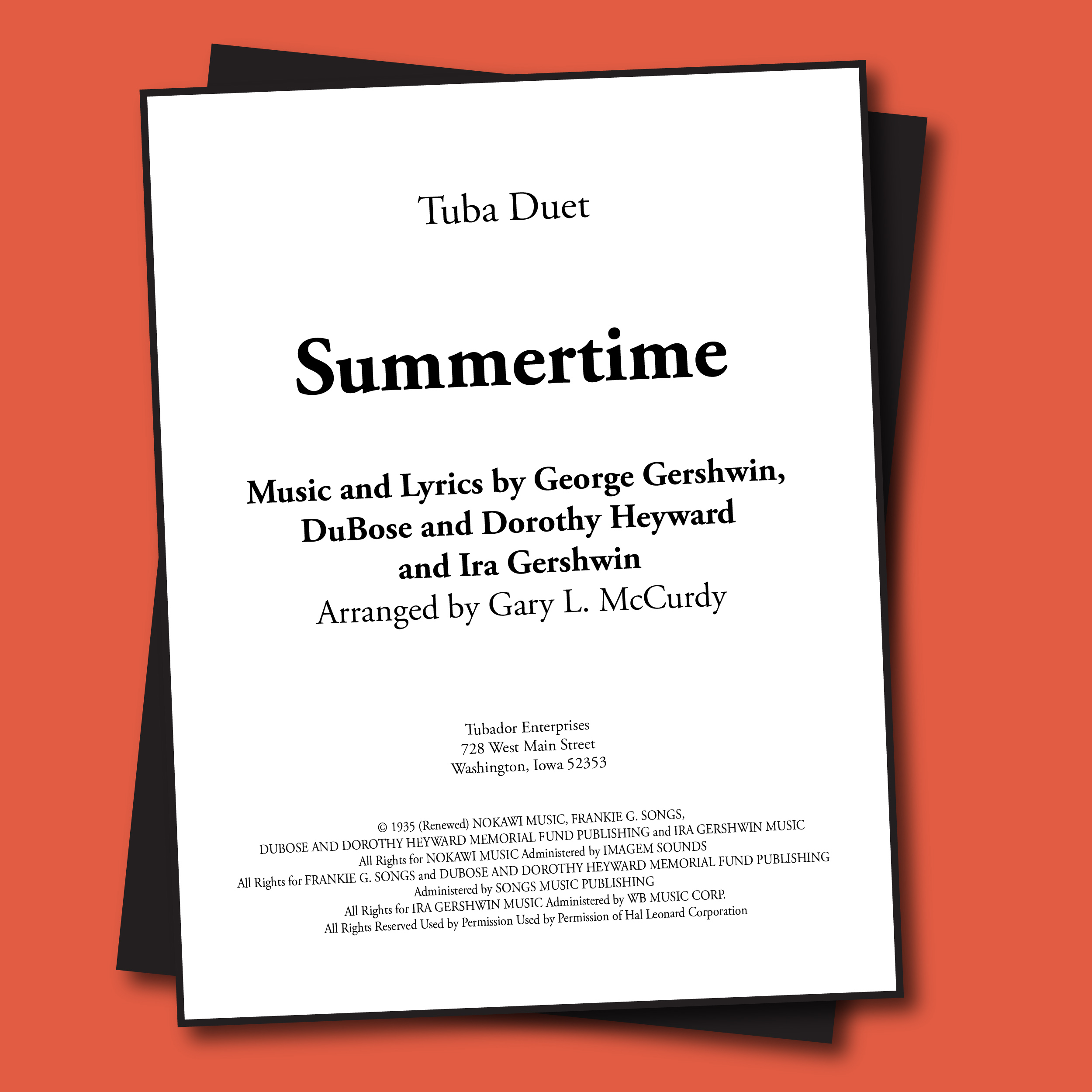 Summertime Sheet Music - Duet