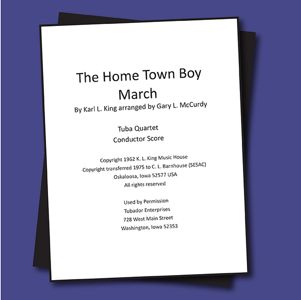 The Home Town Boy March - Quartet