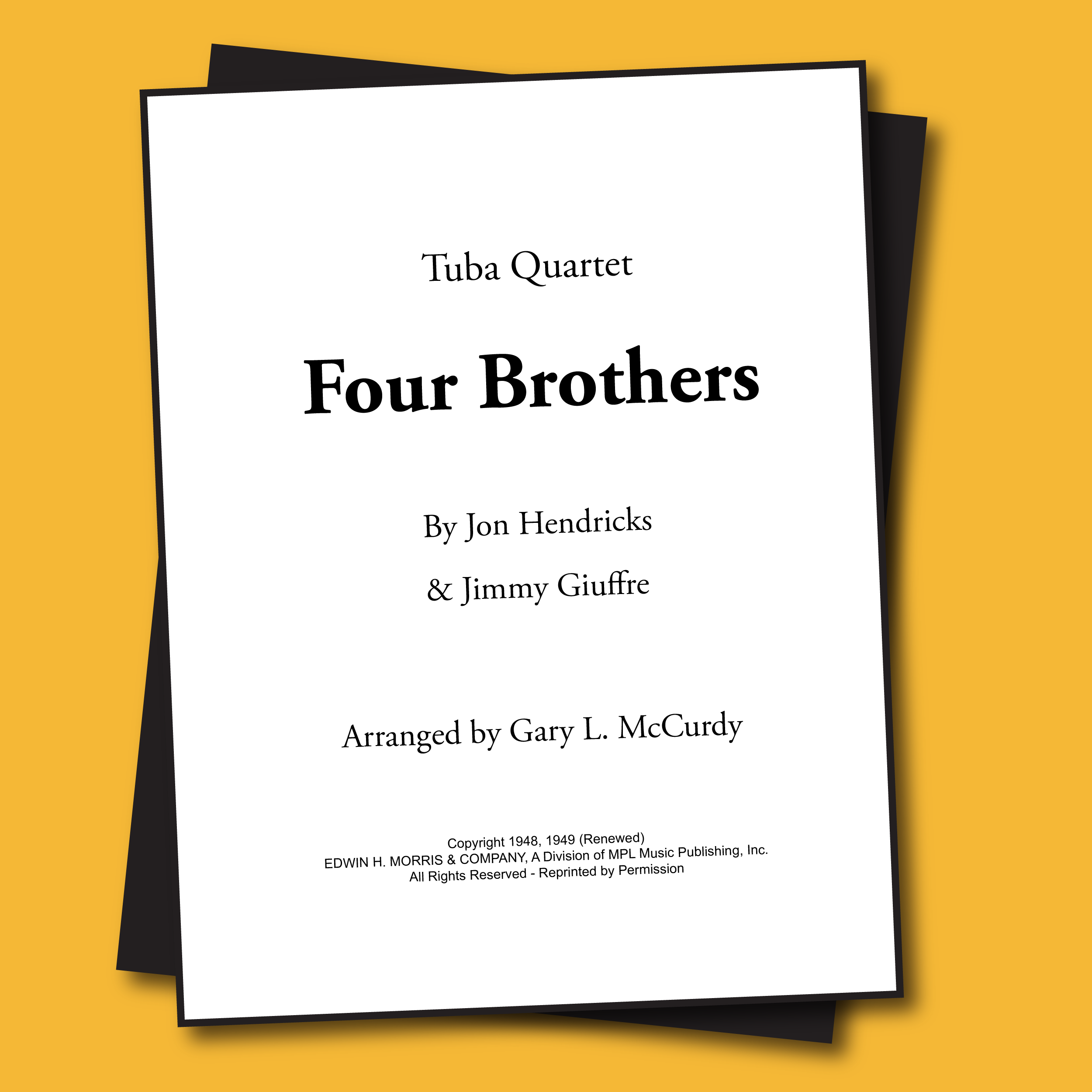 Four Brothers Sheet Music - Duet [TBD50]